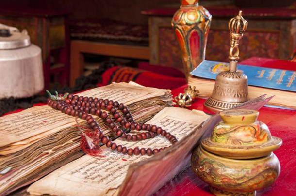 Tibetan beliefs to this day include many ritual items and practices. (Maroš Markovič / Adobe)