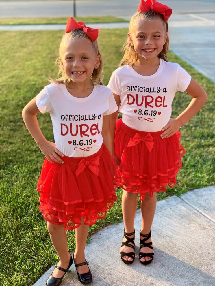 PHOTO: Sisters Mariah, 10, and Aubree, 7, were formally adopted by the Durels on August 6, 2019.