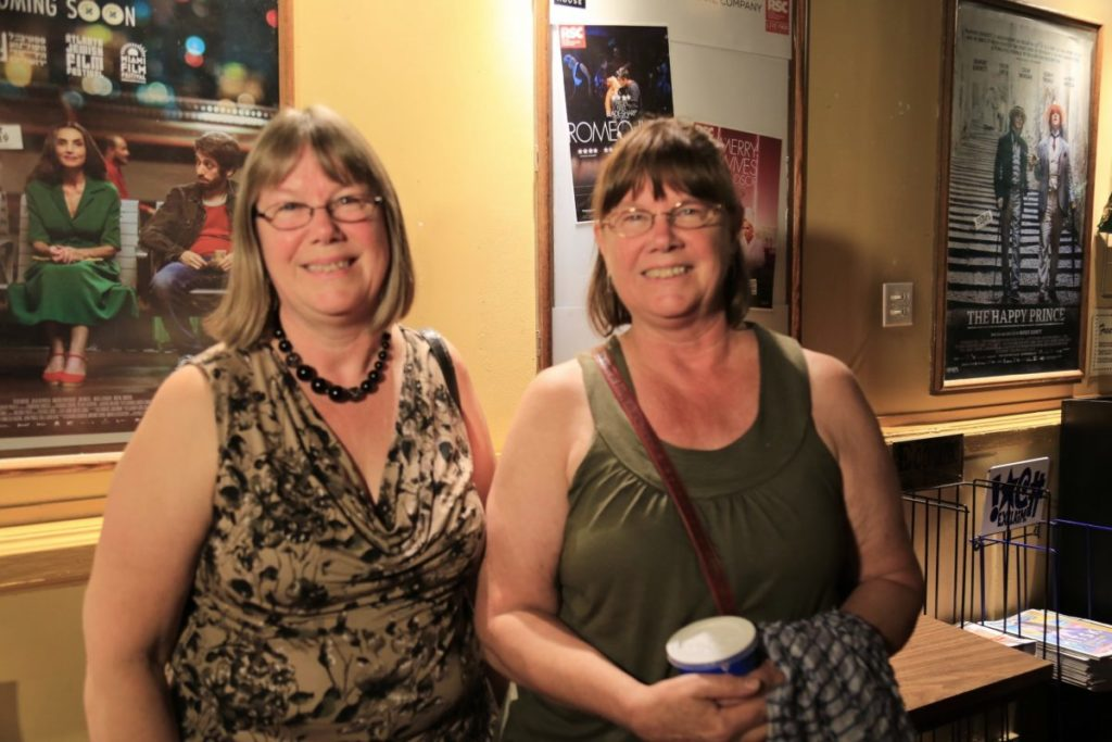"Sisters Lorrie (L) and Judy Heron attended the screening of ""Letter from Masanjia"" at ByTowne Cinema in Ottawa on Sept. 3, 2018. (Jonathan Ren/NTD Television)"