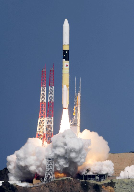 Japan's rocket H-2A is launched, carrying aboard a green gas observing satellite