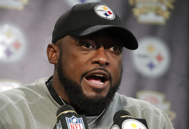 a087c770a Pittsburgh Steelers head coach Mike Tomlin meets with reporters after an  NFL football game against the