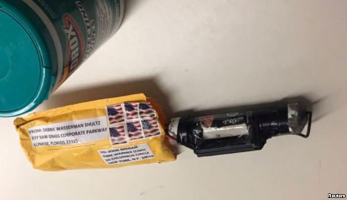 """A package containing a """"live explosive device,"""" according to police"""