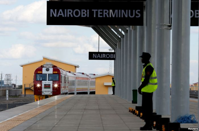 A train launched to operate on the Standard Gauge Railway line constructed by