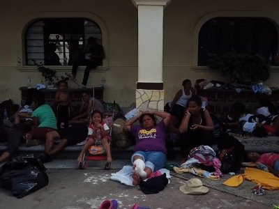 Drone footage shows from above some of the several thousand Central Americans, mostly Hondurans, that have been trekking in a caravan through southern Mexico with hopes of reaching the United States. (Nov. 2)