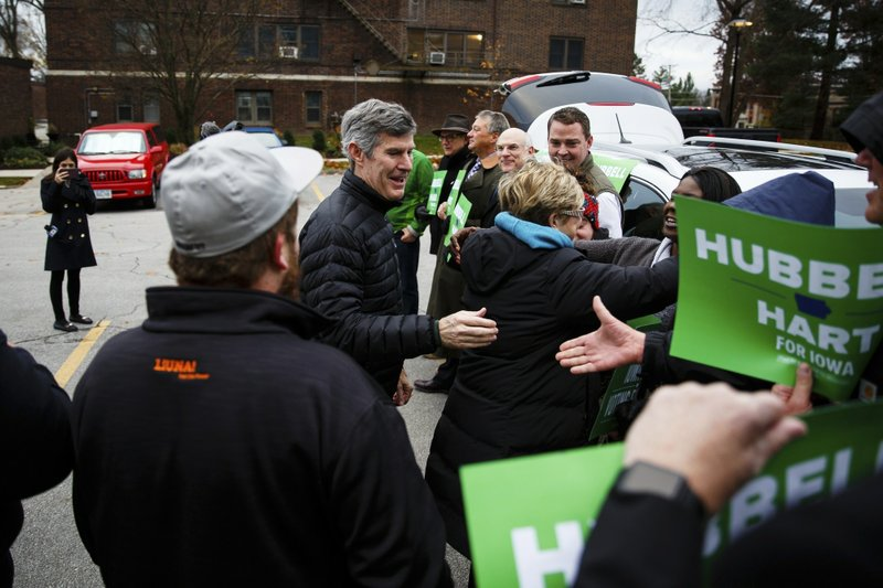 Iowa Democratic gubernatorial candidate Fred Hubbell arrives to cast his vote on Tuesday, Nov. 6, 2018, in Des Moines, Iowa. (Brian Powers/The Des Moines Register via AP)