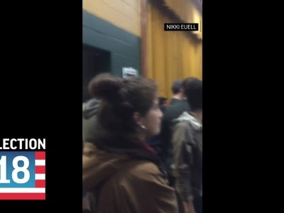 Broken ballot scanners are leading to long lines at some polling sites in New York City. (Nov. 6)