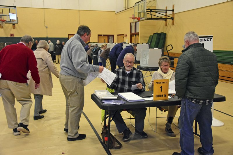 Voting was steady in Williamstown, Mass. as residents cast their ballots in the mid-term elections at the Williamstown Elementary School on Tuesday, Nov. 6, 2018. (Gillian Jones / The Berkshire Eagle via AP)