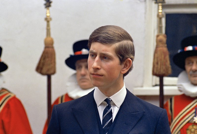 FILE - In this March 25, 1968 file photo, Britain's Prince Charles is photographed in London.  Prince Charles turns 70 Wednesday, Nov. 14, 2018, and his destiny is to be king, a position he will automatically assume on the death of his 92-year-old mother, Queen Elizabeth II. (AP Photo/Peter Kemp, File)