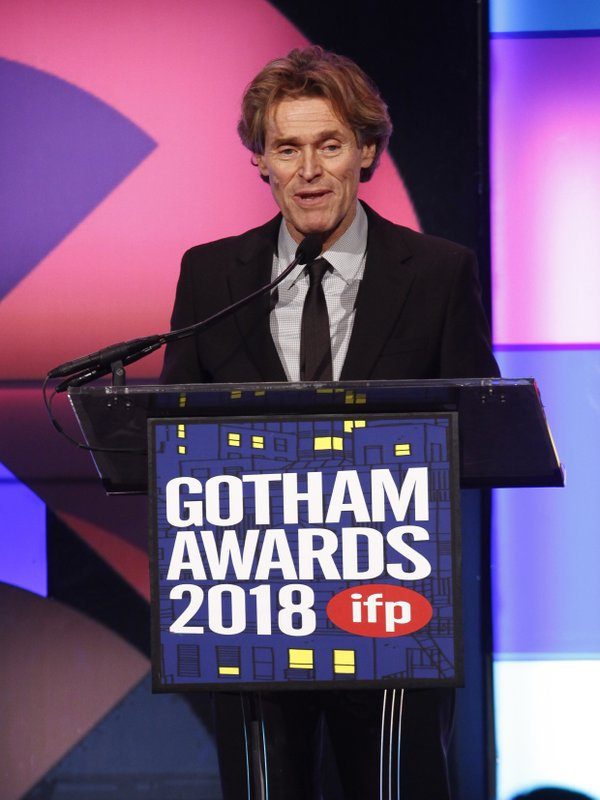 Actor Willem Dafoe accepts the tribute award at the 28th annual Independent Filmmaker Project's Gotham Awards at Cipriani Wall Street on Monday, Nov. 26, 2018, in New York. (Photo by Andy Kropa/Invision/AP)