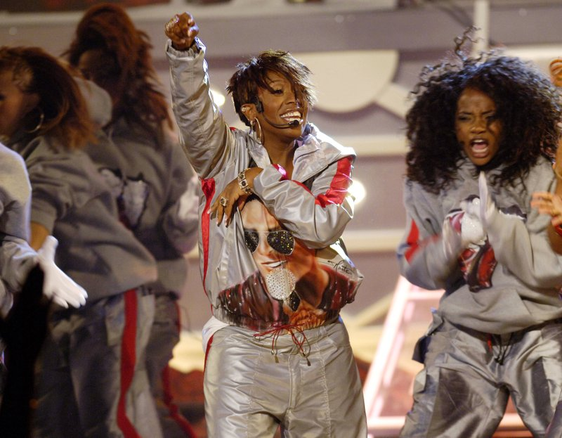 FILE - In this June 28, 2005 file photo shows Missy Elliott performing at the 5th annual BET Awards in Los Angeles. Elliott, one of rap's greatest voices and also a songwriter and producer who has crafted songs for Beyonce and Whitney Houston, is one of the nominees for the 2019 Songwriters Hall of Fame. (AP Photo/Chris Pizzello, File)