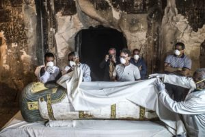 Egypt unveils ancient tomb, sarcophagi in Luxor