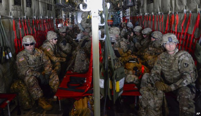 FILE - In this photo provided by the U.S. Air Force, soldiers from the 89th M