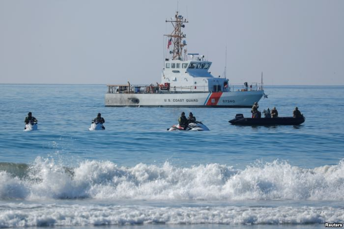 U.S. Border agents and the Coast Guard patrol the Pacific Ocean where the U.S