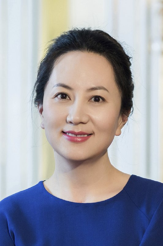 Huawei's chief financial officer Meng Wanzhou is seen in a portrait photo. China on Thursday, Dec. 6, 2018, demanded Canada release the Huawei Technologies executive who was arrested in a case that adds to technology tensions with Washington and threatens to complicate trade talks. (Huawei via AP)
