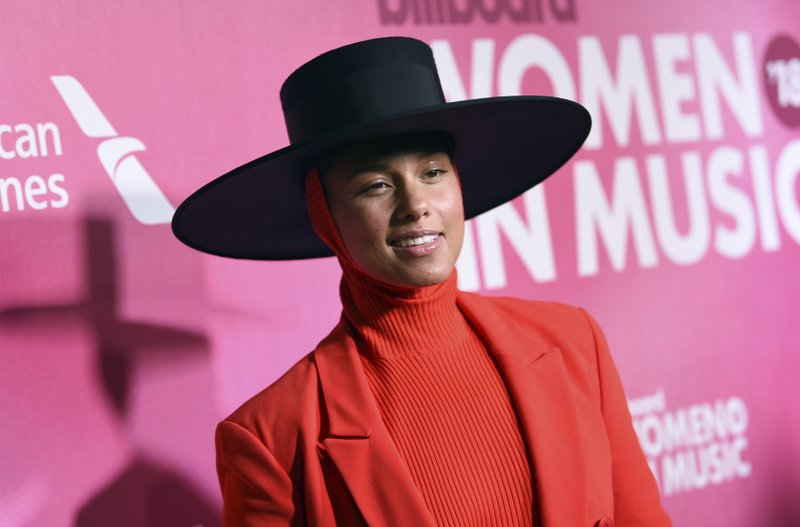 Alicia Keys attends the 13th annual Billboard Women in Music event at Pier 36 on Thursday, Dec. 6, 2018, in New York. (Photo by Evan Agostini/Invision/AP)