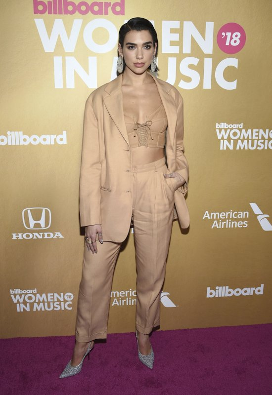 Dua Lipa attends the 13th annual Billboard Women in Music event at Pier 36 on Thursday, Dec. 6, 2018, in New York. (Photo by Evan Agostini/Invision/AP)
