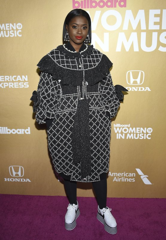 Tierra Whack attends the 13th annual Billboard Women in Music event at Pier 36 on Thursday, Dec. 6, 2018, in New York. (Photo by Evan Agostini/Invision/AP)