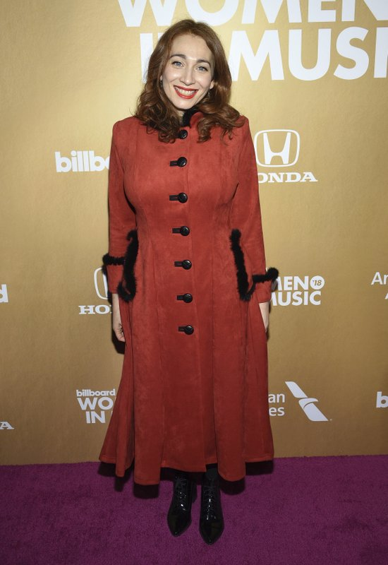 Regina Spektor attends the 13th annual Billboard Women in Music event at Pier 36 on Thursday, Dec. 6, 2018, in New York. (Photo by Evan Agostini/Invision/AP)