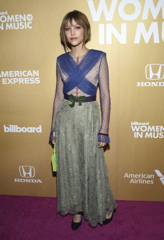 Grace VanderWaal attends the 13th annual Billboard Women in Music event at Pier 36 on Thursday, Dec. 6, 2018, in New York. (Photo by Evan Agostini/Invision/AP)