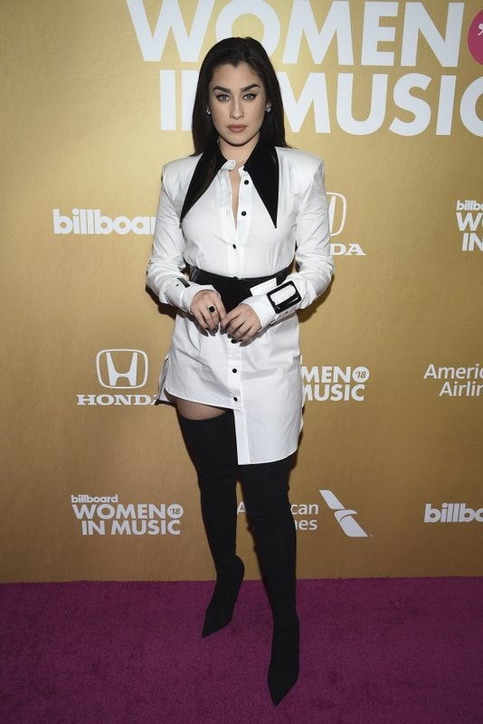 Lauren Jauregui attends the 13th annual Billboard Women in Music event at Pier 36 on Thursday, Dec. 6, 2018, in New York. (Photo by Evan Agostini/Invision/AP)