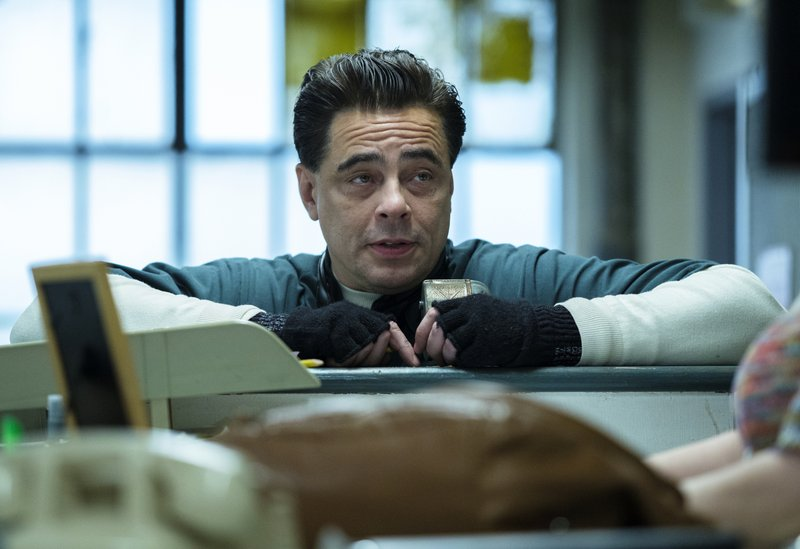 This image released by Showtime shows Benicio Del Toro in a scene from