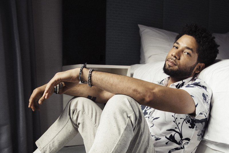 FILE - In this March 6, 2018 file photo, actor-singer Jussie Smollett, from the Fox series,
