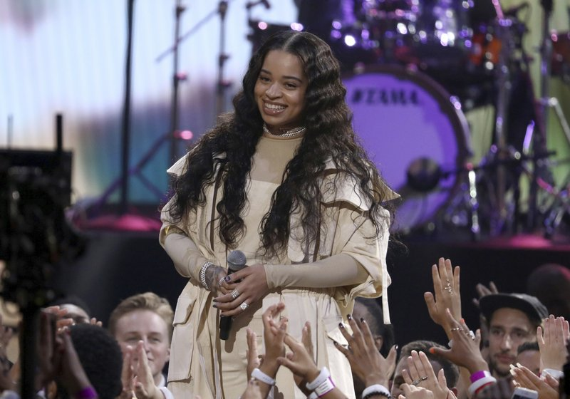 FILE - In this Oct. 9, 2018 file photo, Ella Mai performs