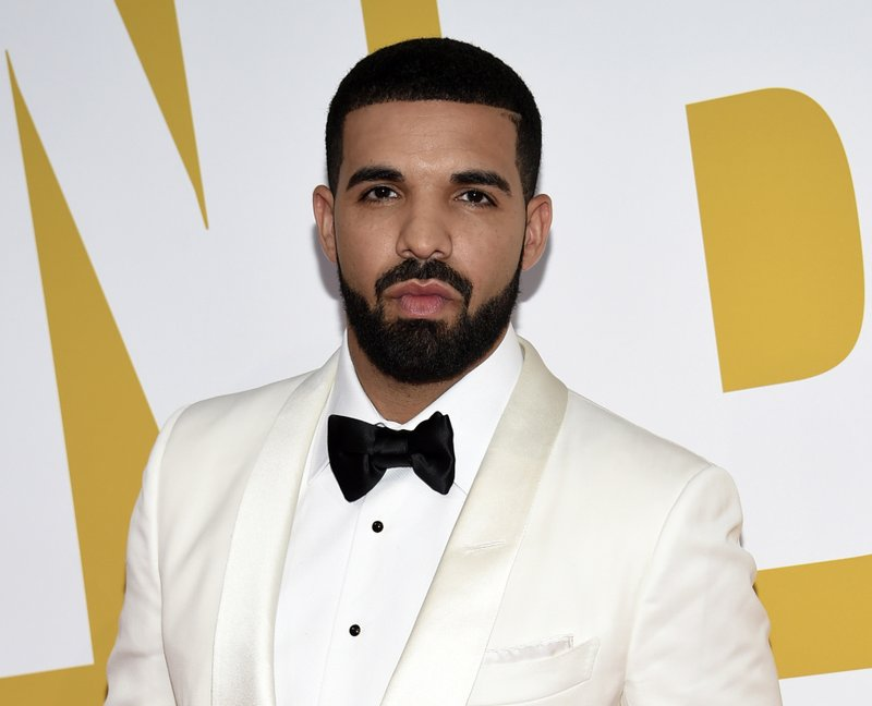 FILE - In this June 26, 2017 file photo, Canadian rapper Drake arrives at the NBA Awards in New York. (Photo by Evan Agostini/Invision/AP, File)