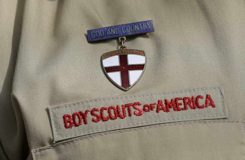 In this Feb. 4, 2013 file photo, shows a close up detail of a Boy Scout uniform.