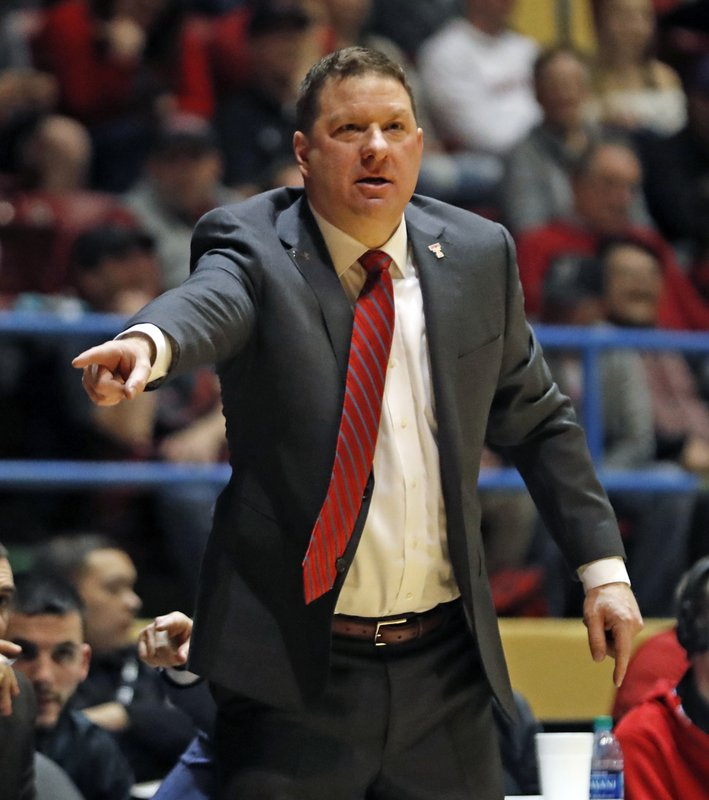 Texas Tech coach Chris Beard yells out at his players during the first half of an NCAA college basketball game against Abilene Christian, Saturday, Dec. (AP Photo/Brad Tollefson)