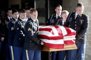 Community gathers to mourn solider killed in Afghanistan