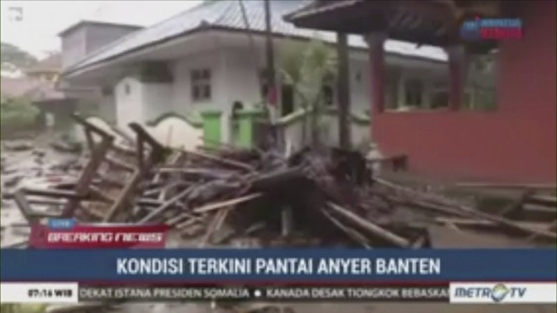 In this image made from video, debris are seen on street after a tsunami hit the coast in Serang city, in Banten Province, Indonesia, Sunday, Dec. (METRO TV via AP)