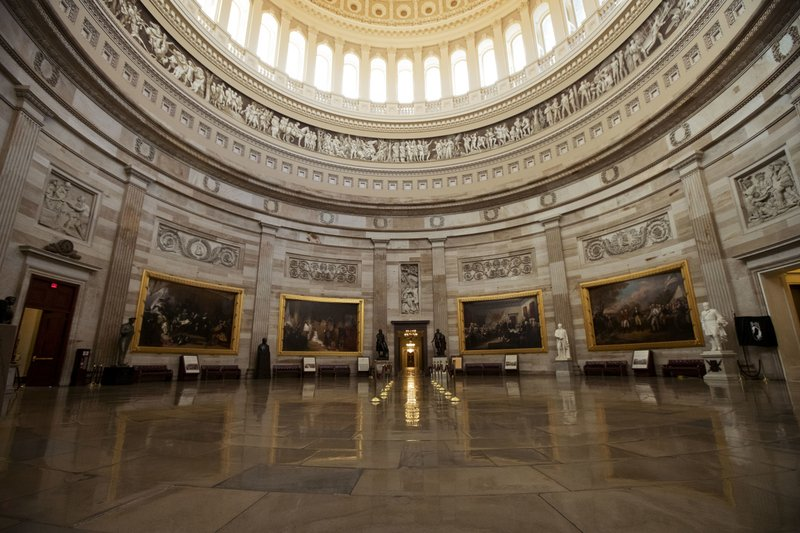 The empty U.S. Capitol Rotunda is seen during a partial government shutdown in Washington, Monday, Dec. (AP Photo/Manuel Balce Ceneta)