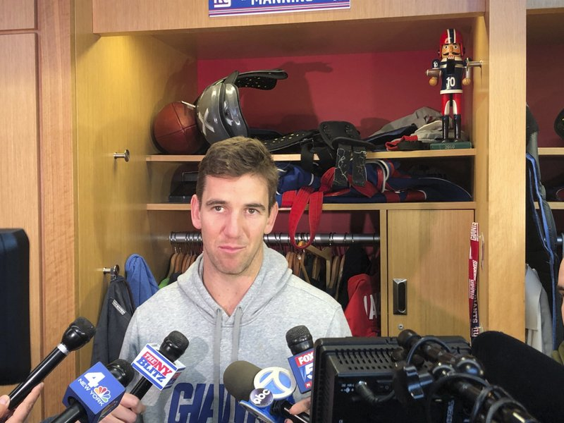 With questions about his future swirling, New York Giants quarterback Eli Manning said Wednesday, Dec. (AP Photo/Tom Canavan)