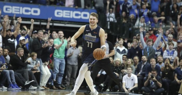 c0012b98db0 Dallas Mavericks forward Luka Doncic smiles as time expires during the the  team s NBA basketball game against the New Orleans Pelicans in Dallas