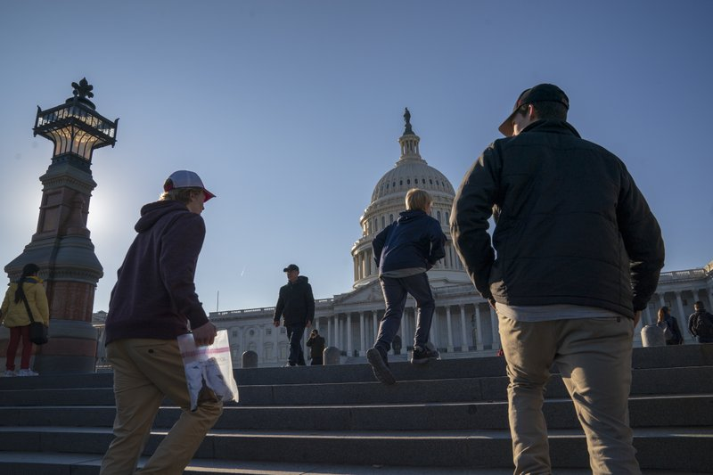People visit the Capitol as a shutdown affecting parts of the federal government appeared no closer to ending, with President Donald Trump and congressional Democrats locked in a hardening standoff over border wall money, in Washington, Wednesday, Dec. (AP Photo/J. Scott Applewhite)