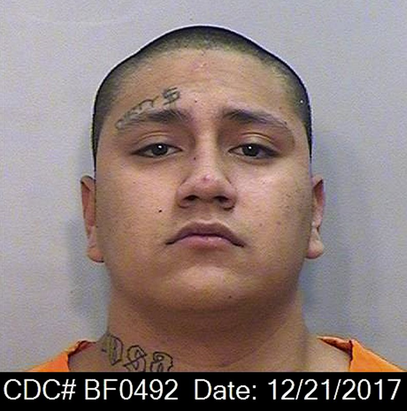 This Dec. 21, 2017 photo provided by the California Department of Corrections and Rehabilitation (CDCR) shows Shalom Mendoza. (California Department of Corrections and Rehabilitation via AP)