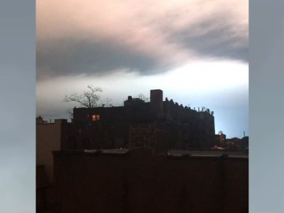 A transformer explosion at an electrical plant set the skies above New York City ablaze in an eerie, pulsing blue light Thursday night, causing scattered power outages, delaying flights and sparking social media jokes about an alien invasion. (Dec. 28)
