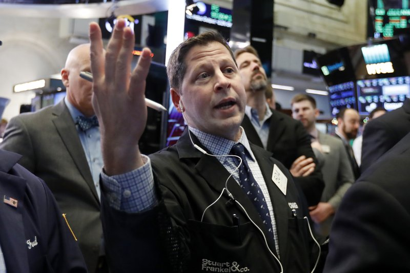Trader Craig Esposito works on the floor of the New York Stock Exchange, Friday, Dec. 28, 2018. Stocks are opening higher Friday as U. (AP Photo/Richard Drew)