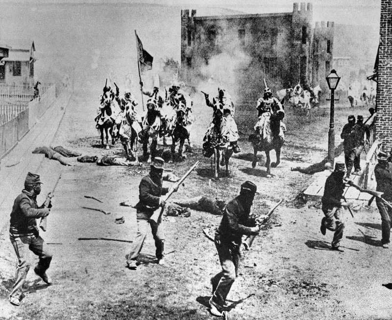 FILE - This 1914 file photo shows a scene from D.W. Griffith's