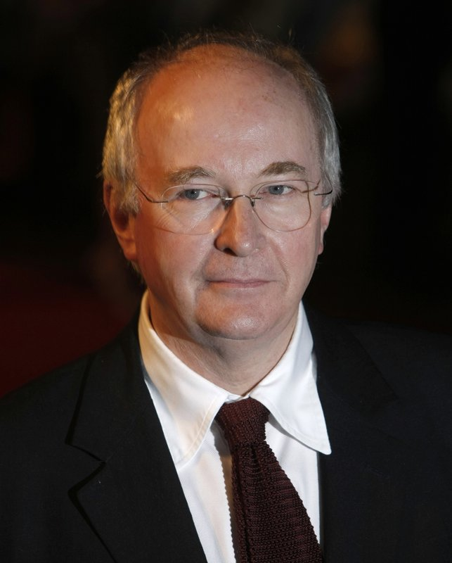 FILE - In this Nov. 27, 2007, file photo British writer Philip Pullman arrives for the world premiere of the film