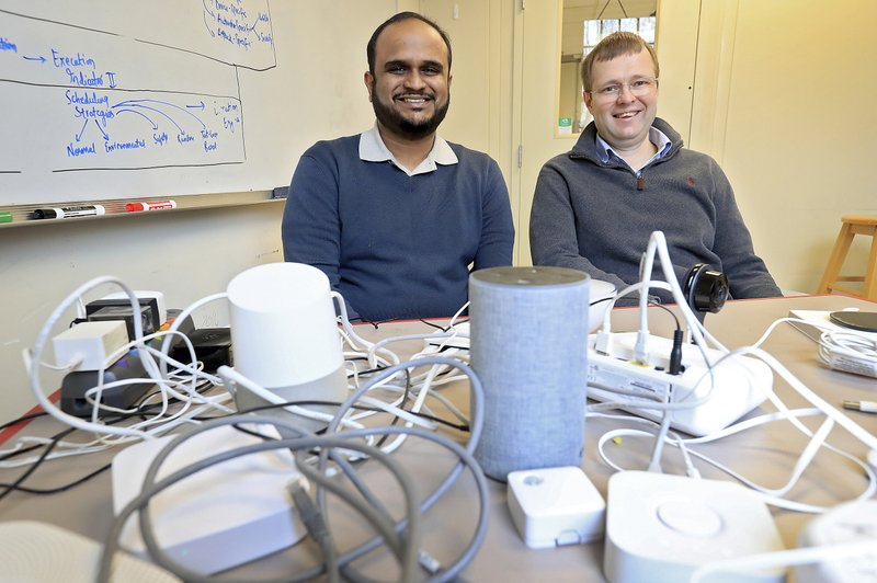 William & Mary computer science associate professors Adwait Nadkarni and Denys Poshyvanyk and their students have identified security vulnerabilities in smart home devices. (Rob Ostermaier/The Daily Press via AP)