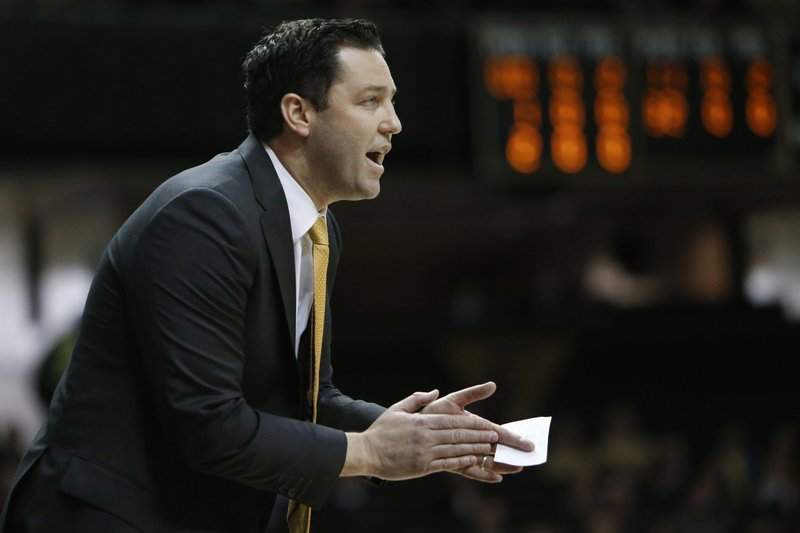 Vanderbilt head coach Bryce Drew watches the action in the first half of an NCAA college basketball game against Tennessee State, Saturday, Dec. (AP Photo/Mark Humphrey)