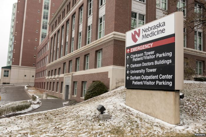 FILE - A view of the emergency entrance at the Nebraska Medical Center Biocon