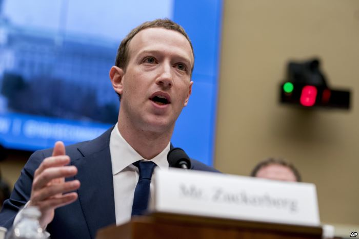 FILE - Facebook CEO Mark Zuckerberg testifies before a House Energy and Comme