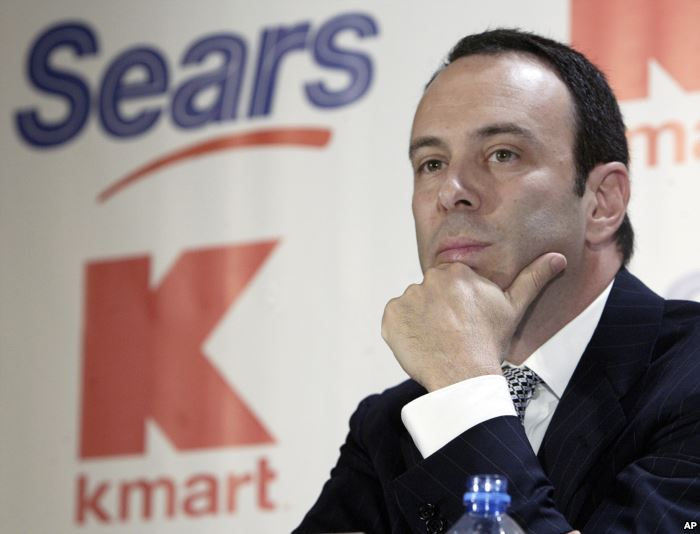 FILE - Kmart chairman Edward Lampert listens during a news conference to anno