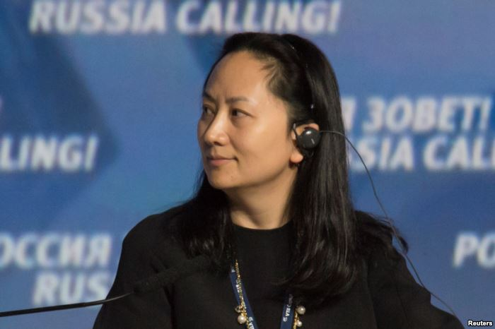 FILE - Meng Wanzhou, Executive Board Director of the Chinese technology giant