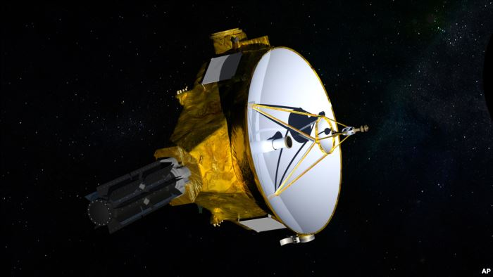 FILE - This illustration provided by NASA shows the New Horizons spacecraft.