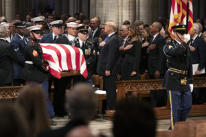 'Mission complete': Funeral recalls George H.W. Bush's service to God, family, country