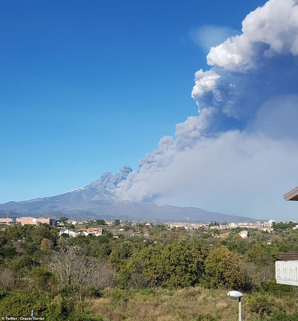 Mount Etna is in an near constant state of activity but its relatively frequent eruptions very rarely affect civilians